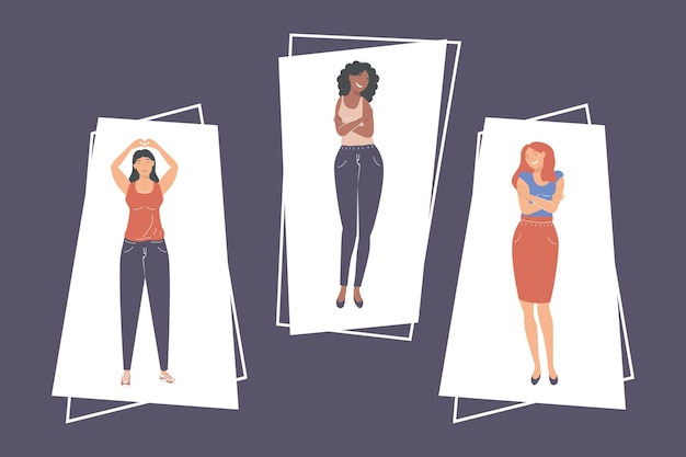 Tema mulheres de autocuidado
