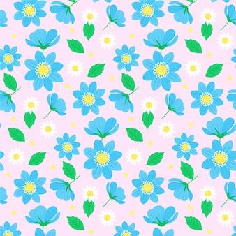 Tema padrão floral colorido