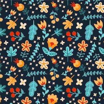 Tema padrão floral
