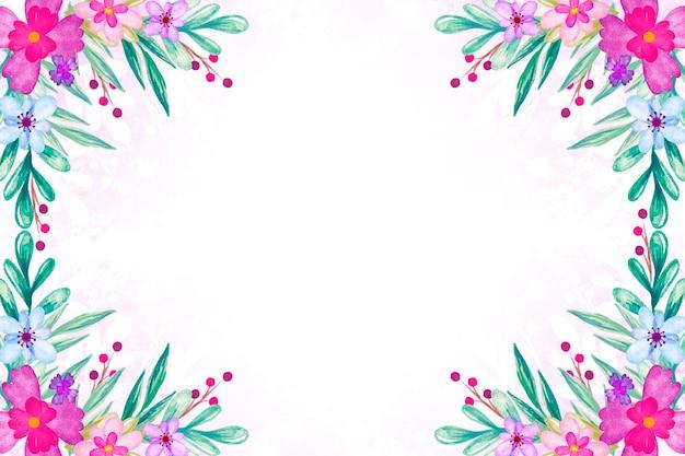 Tema primavera aquarela para plano de fundo
