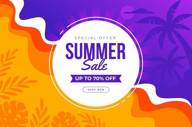 Tema promocional de venda de verão
