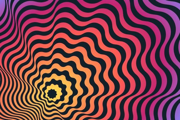 Tema psicodélico de ilusão de ótica de fundo