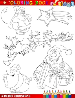 Temas de natal dos desenhos animados para colorir