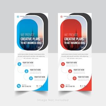 Tempalte de design de banner corporativo enrolado