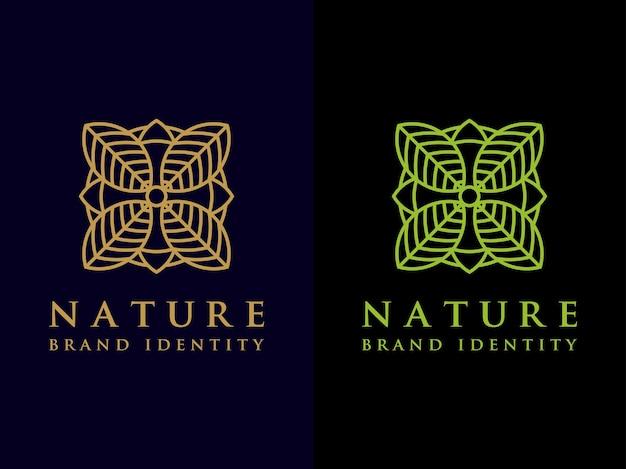 Tempalte leaf logo design conjunto de símbolos de natureza simples