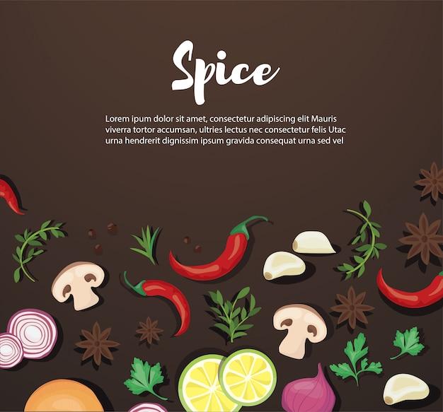 Tempero e alimentos vegetais