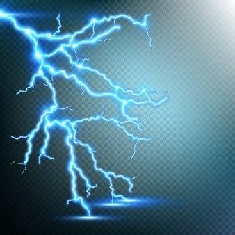 Tempestade de trovões e relâmpagos.