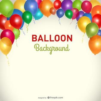 Template balões branco partido