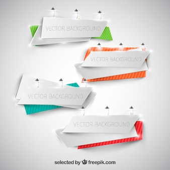 Template banners origami