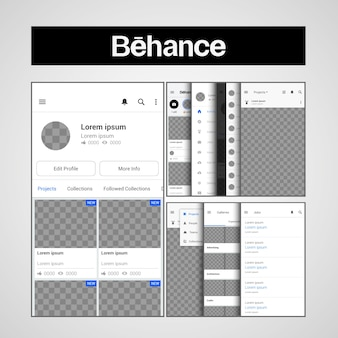 Template behance ux