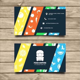 Template comida cartão de visita
