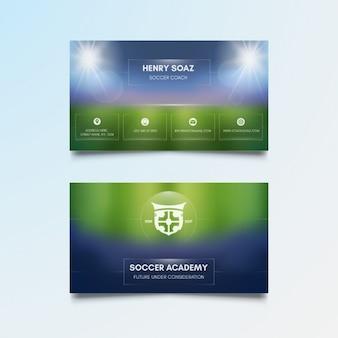 Template de futebol cartão de visita