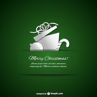 Template de natal verde e branco