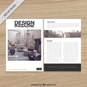 Template decoração revista