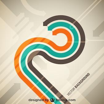 Template design setas movimento retro