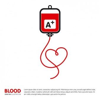 Template doação de sangue ilustração