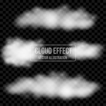 Template efeito transparente nuvem