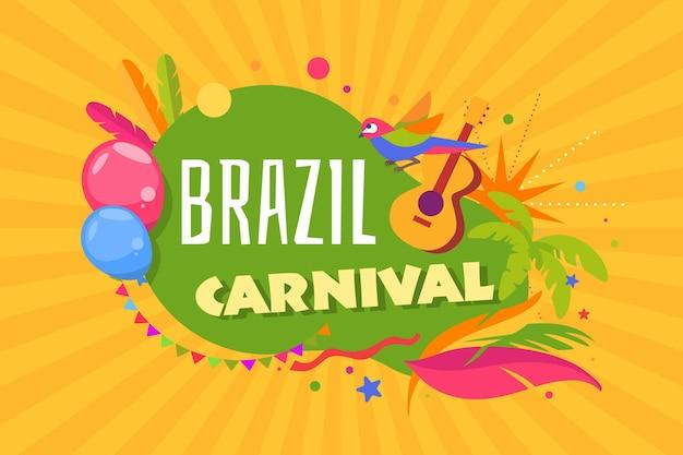 Template festival carnaval do brasil