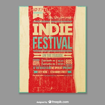 Template festival indie