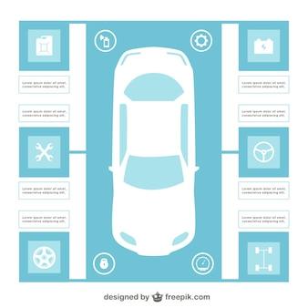 Template infográfico carro