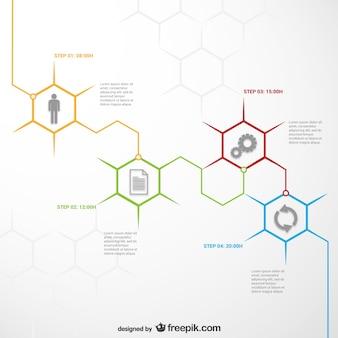 Template infográfico honeycomb