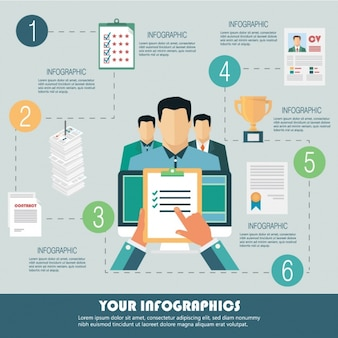 Template infográfico negócios