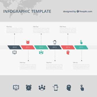 Template infográfico timeline