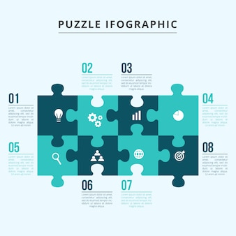 Template infographics puzzle