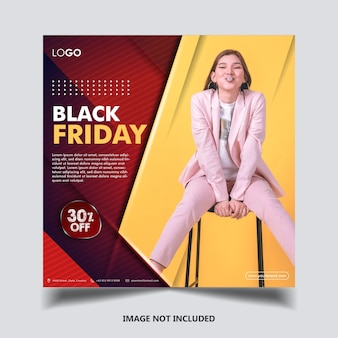 Template instagram black friday
