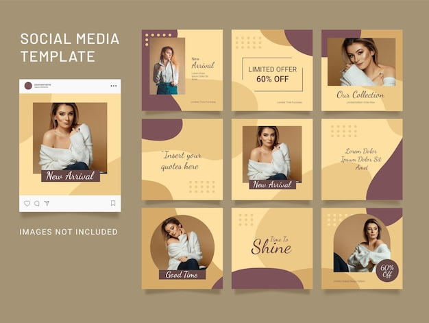 Template instagram fashion women feed puzzle