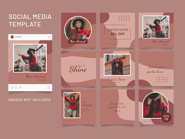 Template instagram puzzle post social media