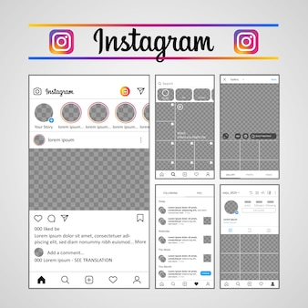 Template instagram ux