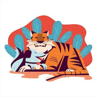 Template leão ilustração vetorial