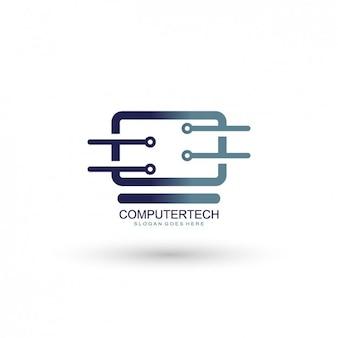 Template logo computing empresa