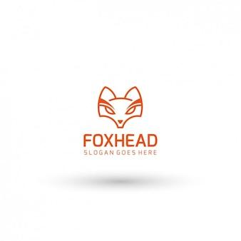 Template logo fox cabeça