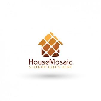Template logo mosaic house