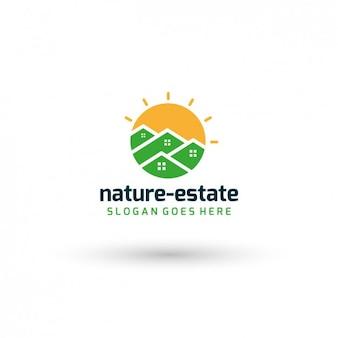 Template logo nature imóveis