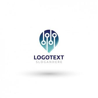 Template logo pin