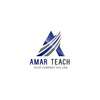 Template logo triangular