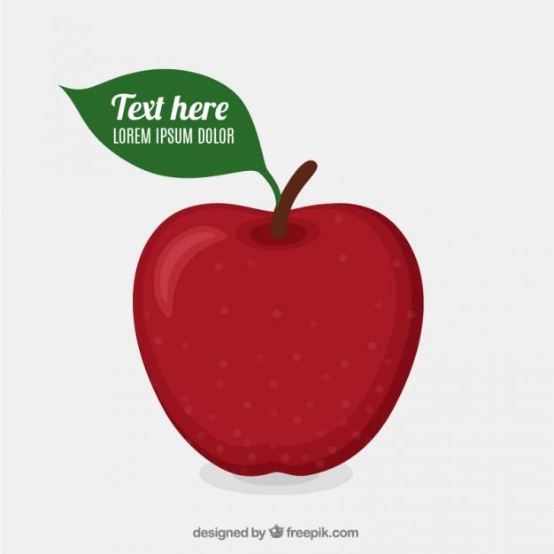 Template maçã vermelha