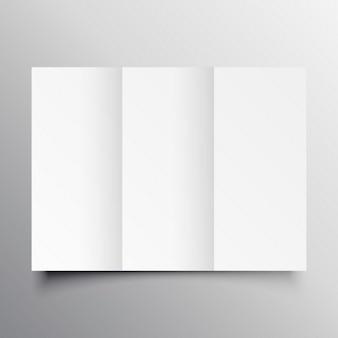 Template mockup brochura com três dobras