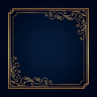Template moldura dourada
