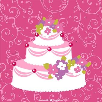 Template vector bolo de casamento