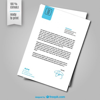 Template vector folha de carta