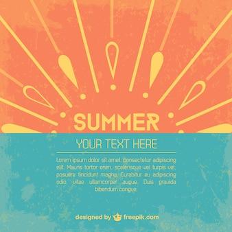 Template vector verão