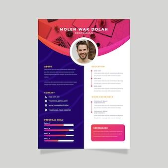 Template web cv online