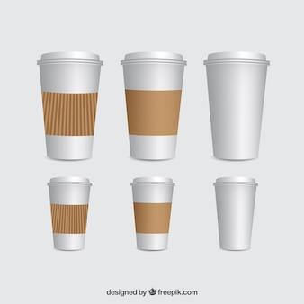 Template xícaras de café