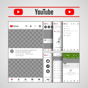 Template youtube ux