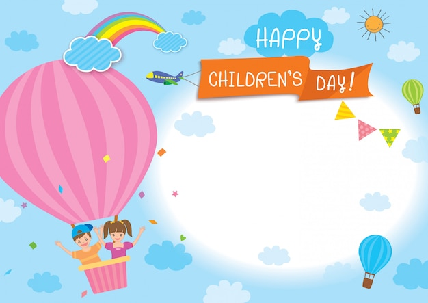 Templo de ballon de dia de crianças