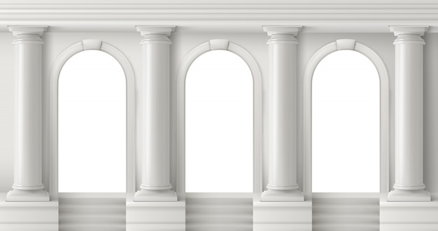 Templo grego antigo com pilares brancos